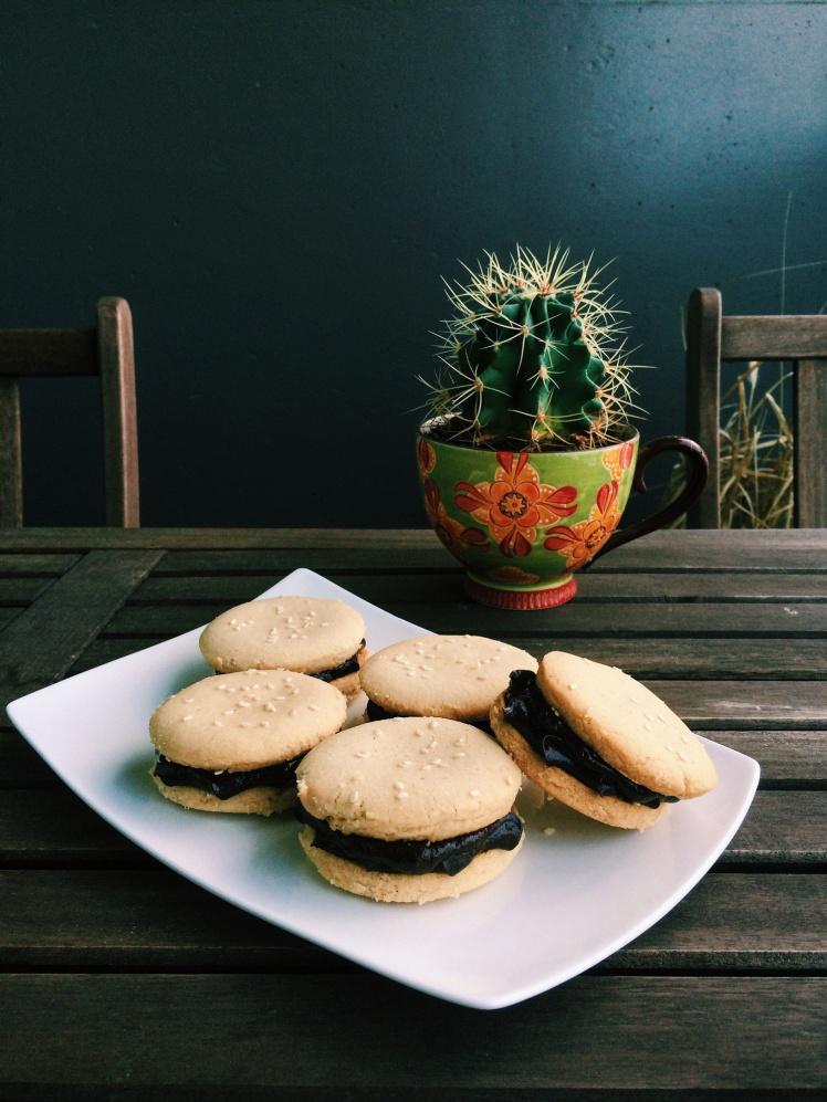 Tahini Shortbread Sandwich Cookies