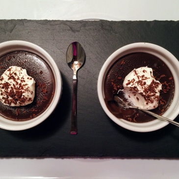 Salted Dark Chocolate Pudding