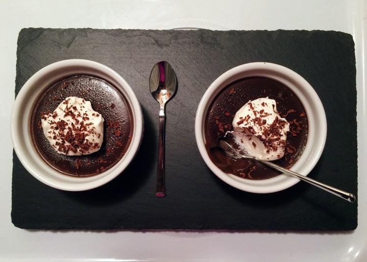 Salted Dark Chocolate Pudding