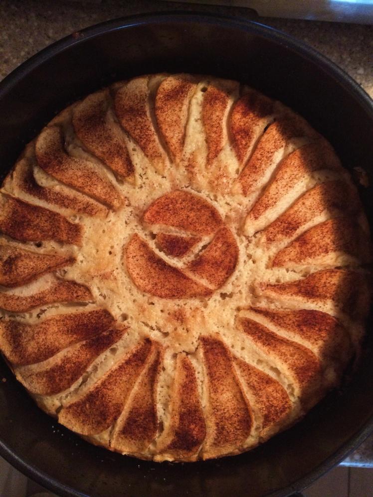 Vanilla Pear Bourbon Tea Cake baked