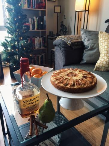 Vanilla Pear Bourbon Tea Cake