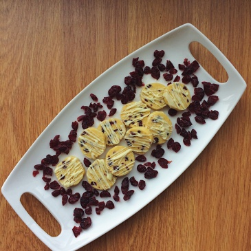 Cranberry Orange Shortbread with White Chocolate Drizzle