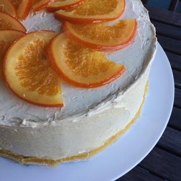 Orange Ginger Cake with Cinnamon Molasses Buttercream