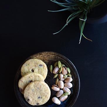 Pistachio Vanilla Shortbread