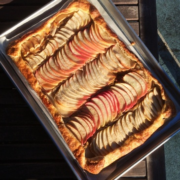 Apple Galette with Tahini Frangipane
