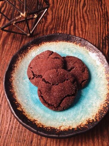 Chocolate Molasses Cookies