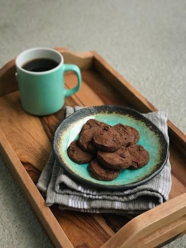 double chocolate slice-and-bake cookies